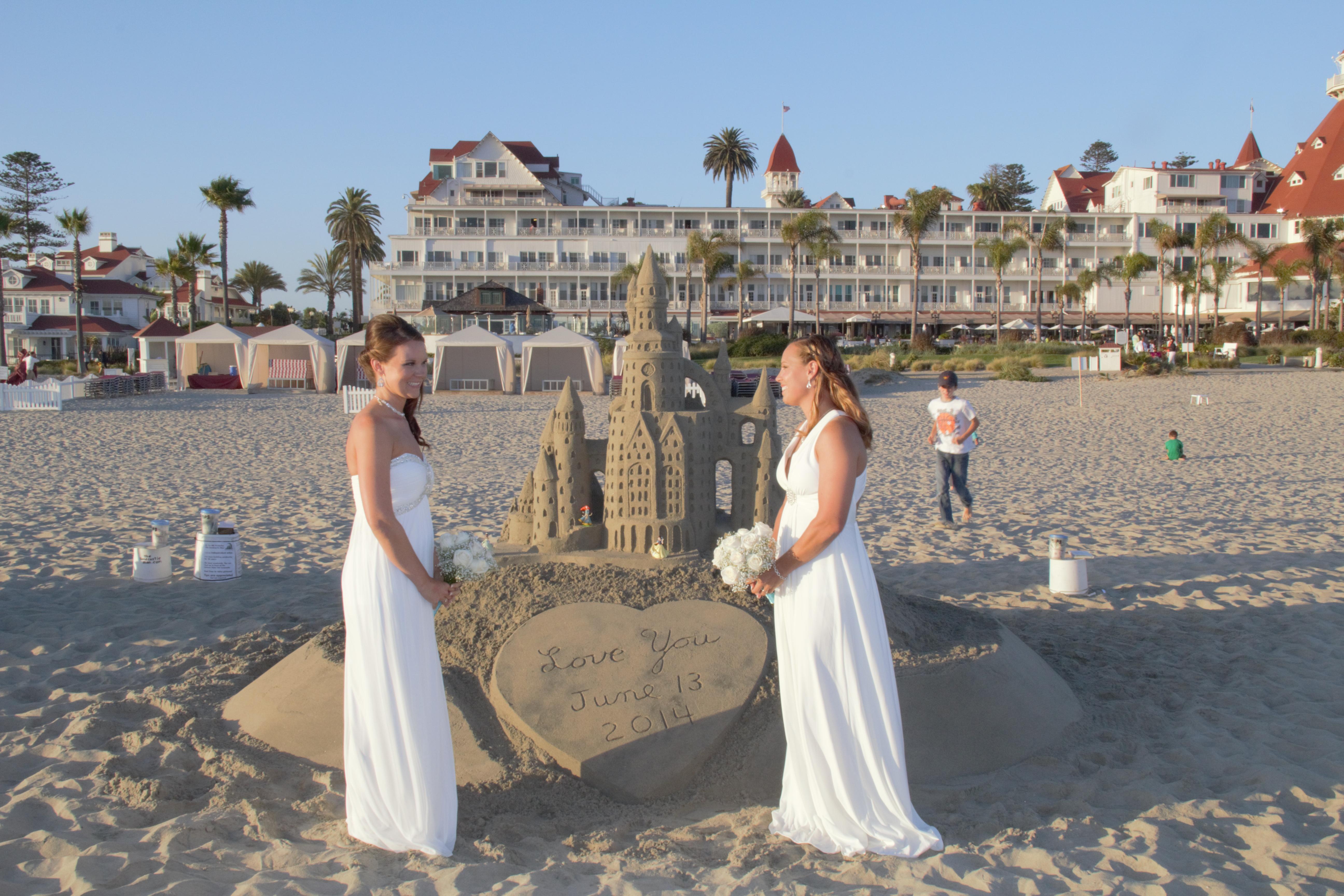 Coronado Beach wedding summer 2014